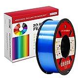 Filamento PLA para impresora 3D de 1,75 mm, filamento de impresión 3D PLA para impresora 3D y bolígrafo 3D, precisión dimensional +/- 0,02 mm, 1 kg 1 bobina(Azul seda)