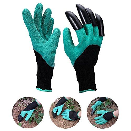 1 paire de gants gants de jardinage avec griffes étanche jusqu'à creuser Outil de jardin et plantes pour jardin Taille unique Convient la plupart des