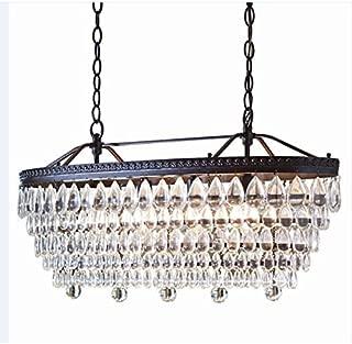 Allen + Roth 4-light Oil-rubbed Bronze Crystal Chandelier Hardwired Home Kitchen Bedroom Bathroom Dining Room Lighting