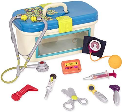 B. Dr. Doctor leksak – deluxe medicinskt kit för småbarn – låtsas lekset för barn (10 stycken) flerfärgad en storlek BX110Z
