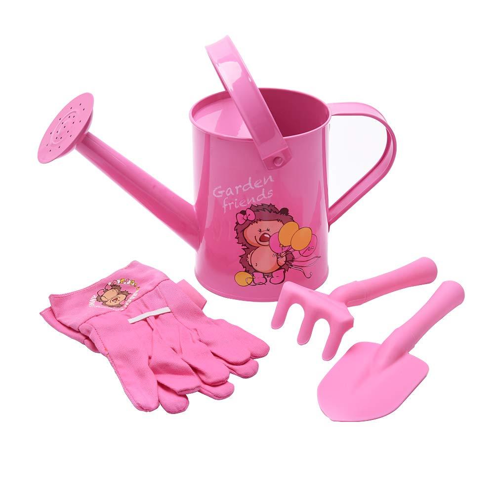 Sungmor Set de Herramientas de jardín para niños, Bonito y Hermoso Kit de jardinería, el Paquete