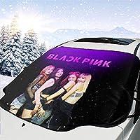 Blackpink (1) 車サンシェード 防塵 雪対策 凍結防止カバ 氷 霜よけ 撥水加工 サイドミラー カバー コンパクト 落葉 雨 紫外線 汚れ ホコリ対策可能 防水材料 Suv車/普通車に適用 取り付け簡単 四季用147*118cm