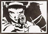 Póster Cowboy Bebop Faye Valentine Grafiti Hecho a Mano - Handmade Street Art - Artwork