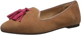 حذاء مسطح بدون كعب سادي شرابة للنساء من هاش بابيز