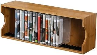 Nai-storage Oficina de CD de música Gabinete de Almacenamiento, Librería Cafetería Cine de DVD de sobremesa Soporte de exhibición - Decoración de Juguete Modelo de Dormitorio de Madera Estantería
