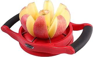 Newness Coupe Pomme Acier Inoxydable à poignées en plastique, en 8 Quartiers Fils Inox