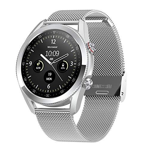 Relojes inteligentes de negocios para hombres, smartwatches para iPhone, Android, Bluetooth, rastreador de actividad, relojes deportivos para mujer IP68, impermeable, pulsera de muñeca monitores