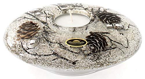 Dreamlight Teelichthalter braun Größe 11x11x4 cm