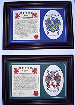 Family History and Hand Painted Coat Of Arms. by