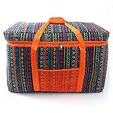 Bolsa de Picnic Gran aislamiento Cesta de picnic, a prueba de fugas cesta plegable portátil conjunto con for viajes, compras, camping para Acampar Senderismo ( Color : Orange , Size : 66x33x41CM )