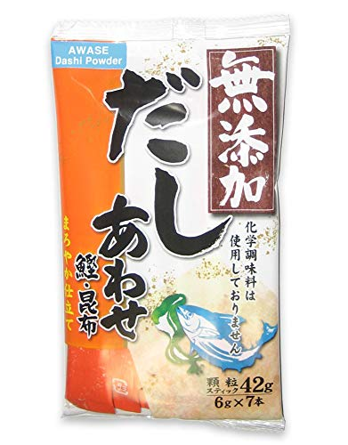 Awase Dashi Powder with No MSG (Bonito and Kelp Soup Stock) [English instructions on the back] 1.48 oz (6 gram x 7 packets)