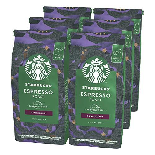 STARBUCKS Espresso Roast Ganze Kaffeebohnen, Dunkle Röstung (6 x 200g)