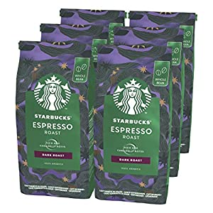 STARBUCKS Espresso Dark Roast Café De Grano Entero De Tostado Intenso 6 Bolsa de 200g