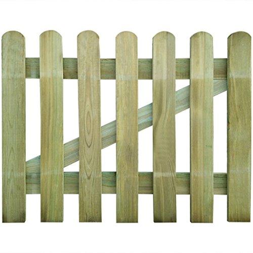 Festnight Holzgartentor Lattenzauntor aus Holz Gartentor 100 x 80 cm Zauntür Hoftor für Garten Terrasse Hof