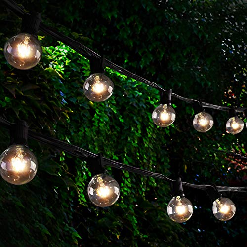 Othran Festoon Lights Outdoor Mains, 34FT G40 Globe String Lights Mains Powered, 25 Bulb + 3 Spare, Waterproof Outdoor Garden Lights for Party Wedding Gazebo Patio Fence Christmas Decorations