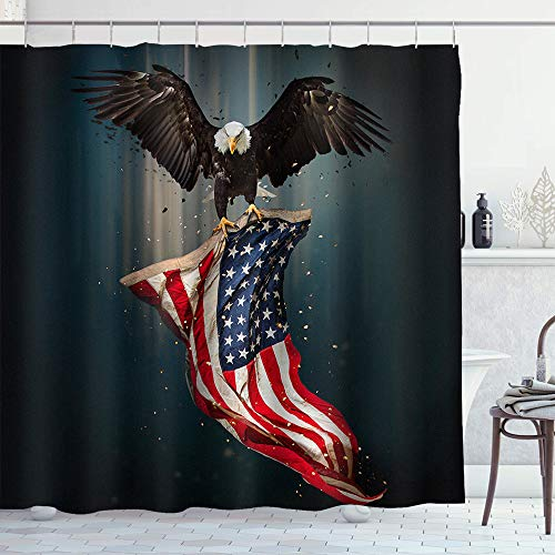 Eagle Carrying Flag Shower Curtain