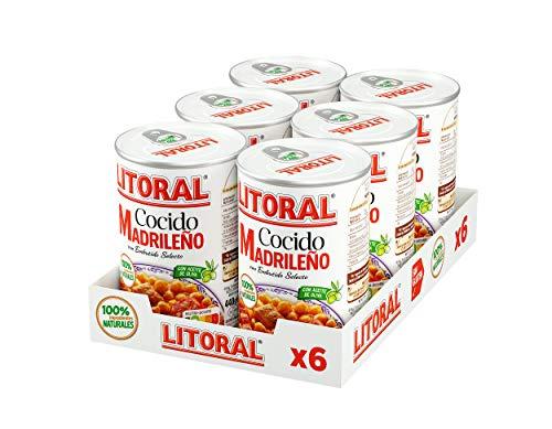 LITORAL Cocido Madrileño - Plato Preparado Sin Gluten - Pack