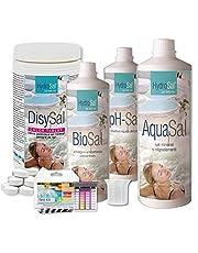 HYDROSAL Juego de productos para agua termal y calcio hipoclorito Kit Chlor – Ideal para piscina e hidromasaje (Teuco, Jacuzzi, Dimhora, Intex, Bestway, etc.).
