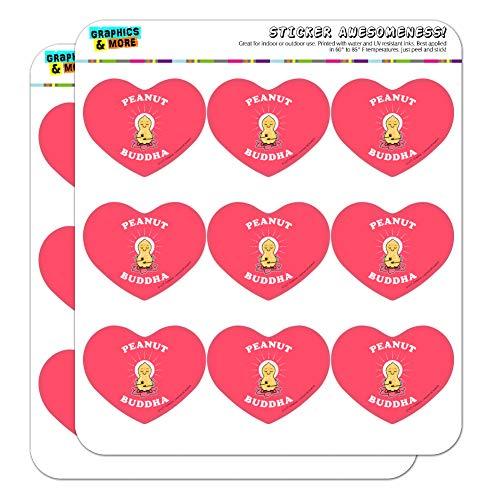 Peanut Buddha Butter Funny Humor Heart Shaped Planner Calendar Scrapbook Craft Stickers