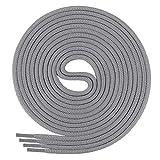 Di Ficchiano Schnürsenkel, Rundsenkel für Business- und Lederschuhe, reißfester Allroundsenkel, ø 3mm Farbe grau Länge 110cm