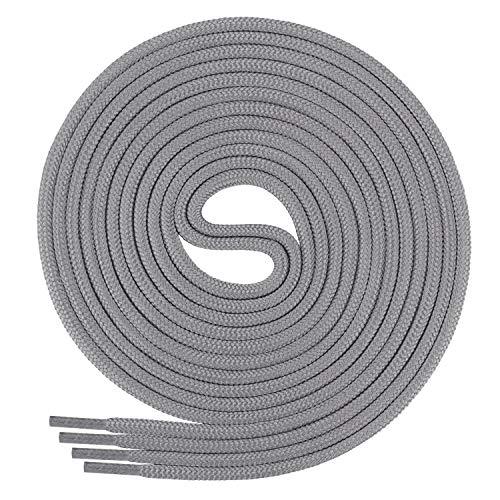 Di Ficchiano Schnürsenkel, Rundsenkel für Business- und Lederschuhe, reißfester Allroundsenkel, ø 3mm Farbe grau Länge 60cm