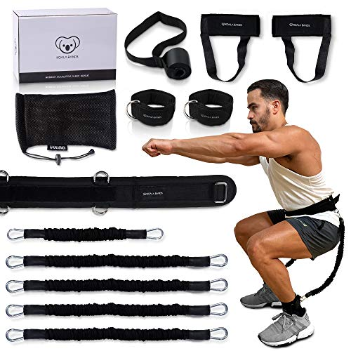 Vertical Jump Training Equipment for Basketball, Volleyball, Football - Leg Strength Resistance Bands Increase Vertical, Speed and Agility