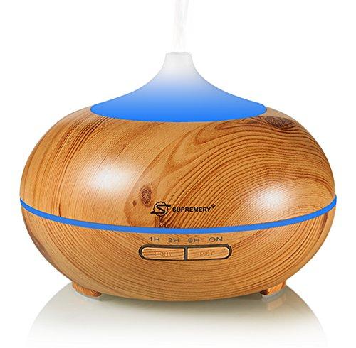 Aroma Diffuser 300ml InnooCare Ultraschall Luftbefeuchter Aromatherapie Ätherischesöl Oil Diffusor mit 7 veränderbaren farbigen LED Lichter verstellbarer Nebel und Zeit Modus für Haus Yoga Büro Spa