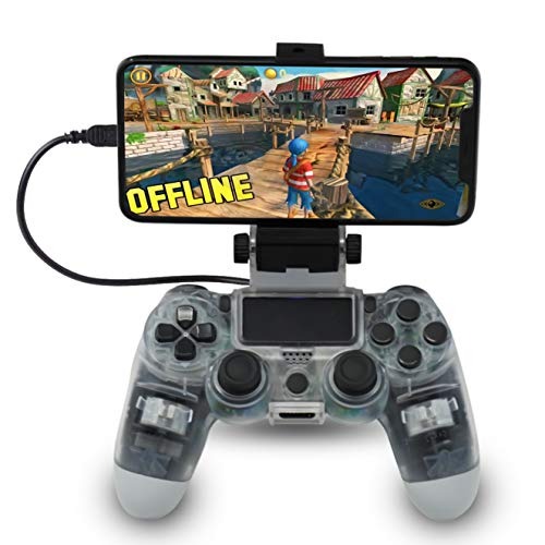 CHASDI PS4 Controller Smartphone Holder Clamp Clip for iPhone Samsung LG Sony Huawei HTC Smartphones