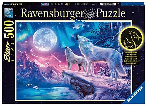 Ravensburger 14952 Wolf im Nordlicht - Sonderserie 500 Teile