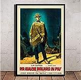 Poster Clint Eastwood Eine Handvoll Dollar Klassischer Film
