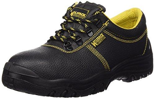 Wolfpack Linea Profesional 15018130 Zapatos Seguridad Piel Negra Wolfpack Nº, 42 EU