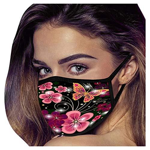 𝐌𝐚𝐬𝐪𝐮𝐞 adulte mode papillon imprimé 𝐌𝐚𝐬𝐪𝐮𝐞 facial réutilisable extérieur chaud respirant lavable 𝐌𝐚𝐬𝐪𝐮𝐞s en coton 1 PC AFFGEQA