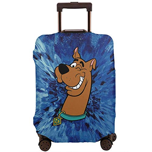 Suitcase Protector SCO_Oby-Doo and Sha_Ggy Elastic Protective Washable Luggage Cover Luggage Sets for 18-32 Inch