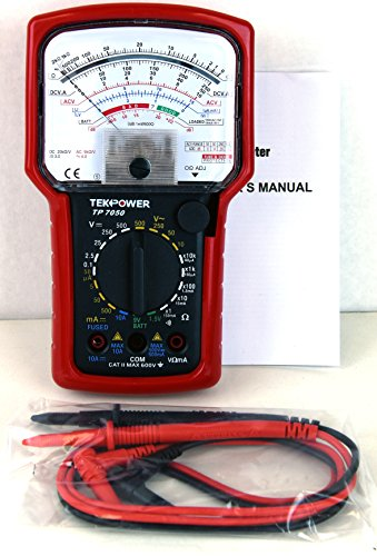 Tekpower TP7050 7-Function 20-Range High Accuracy Analog Multimeter with Battery Tester