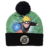 Bioworld Naruto Mens Pom Beanie Anime Winter Hat Black