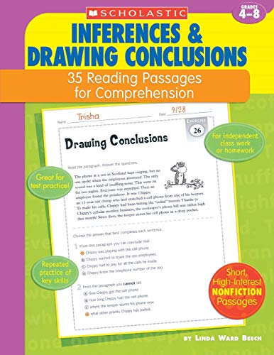 35 Reading Passages for Comprehension: Inferences & Drawing Conclusions: 35 Reading Passages for Comprehension