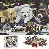 Cangroo Puzzle 1000 Piezas Adultos Tres Perros navideños,Puzzles 1000 Piezas Navidad,Adornos de Navidad Puzzle,Adornos navideños Puzzles,Adornos de Navidad Puzzle Adultos(70*50cm)