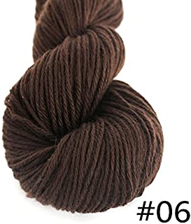 Lotus Yarns 1X55g Hank 100% Mongolian Cashmere DK Weight Hand Knitting Mid Thick Yarn (06-Brown)