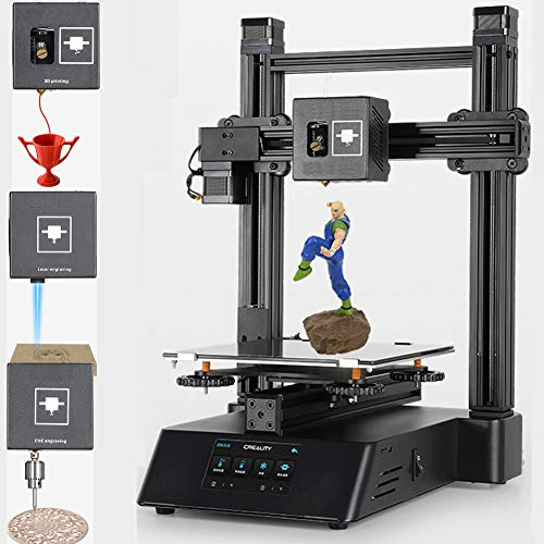 SYXW Práctica Máquina Modular Tres En Uno Impresora 3D Grabado CNC Grabado Láser Una Máquina Modular Multifuncional Que Integra Impresión 3D, Grabado Láser Y Corte CNC