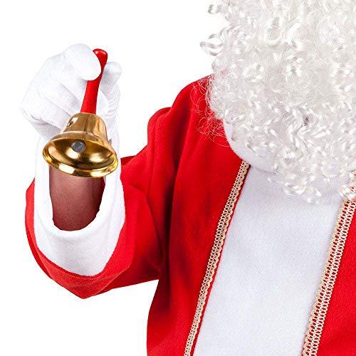 Boland- Campanella Babbo Natale per Adulti, Oro, Taglia Unica, 13400
