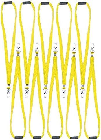 621 opinioni per CKB Ltd ®- 10 cordini neri con moschettone per badge identificativi da portare