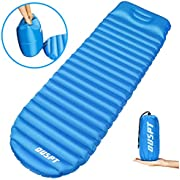 Sleeping Pads,DOUSPT Air Pad Compact Self Inflating Camping Mat,Lightweight Padding Outdoor Waterproof Inflatable Mattress,Folding Portable Gear Pads Best for Hiking Backpacking& Camping (Blue02)