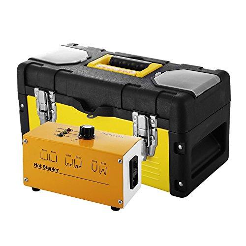 Autovictoria Soldadura de Plástico Conjunto de Recuperación Plástica Térmica Grapadora de Caliente con 600 Grapas y 20W Kit de Soldadura para Plástico para Reparación de Plásticos (600 grapas)