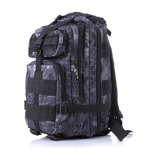 Minetom Unisex Polyester Erwachsene Rucksack Camping Wandern Reisen Trekkingrucksäcke Wanderrucksäcke Taktischer Rainproof Python One Size