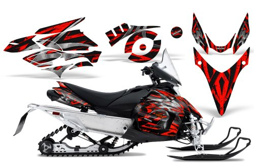 CreatorX Graphics Kit Decals Stickers for Yamaha Phazer Rtx Gt Mtx Snowmobile Sled Bolt Thrower Red