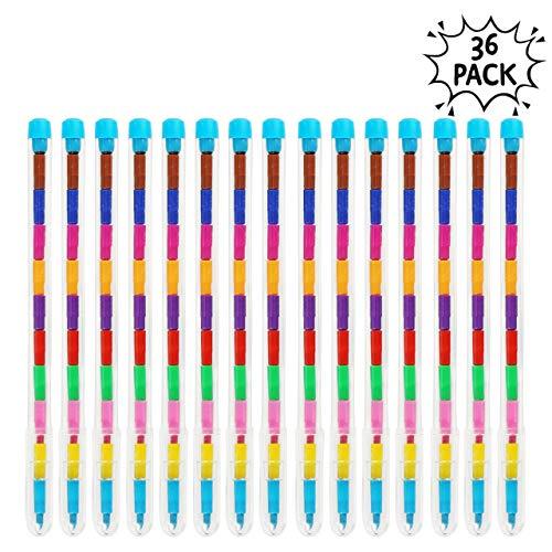 THE TWIDDLERS 36 Stück Swop Spitzen Kreide Buntstifte - 11 Farbwechsel Stift für stundenlangen Spaß und Lernenl - bleistifte bunt Kinder - Party Beutel Füller - Kindergeburtstag Mitgebsel