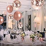 Zoom IMG-2 zoneyan palloncini oro rosa festa