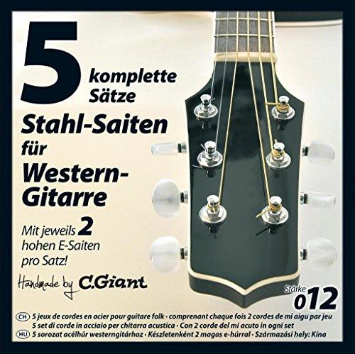 Stahlsaiten für Western Gitarre, 5 Sätze