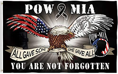 Bonsai Tree Pow Mia Eagle Flag 3x5 Ft Double Sided All Gave Some Some Gave All You are Not Forgotten product image