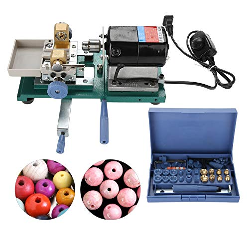 110V Pearl Drilling Holing Full Set, Pearl Drilling Machine Stepless Jewelry Bead Hole Driller Jewel Tools, Holds Beads Securely for Precision Work(US)